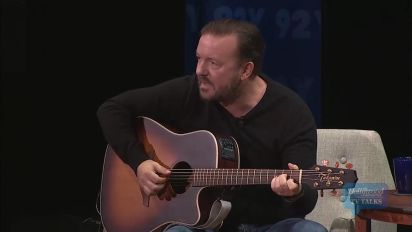Ricky Gervais Sings a Song on His Hometown