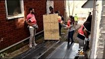 Area College Students Help To Board Up Abandoned North Braddock Homes