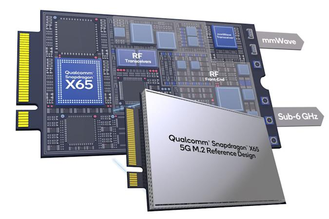Qualcomm X65 10 gigabit 5G modem M.2 reference design