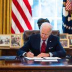 How many executive orders has Joe Biden signed?
