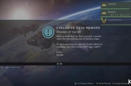 Play Destiny this weekend, get an exclusive beta emblem