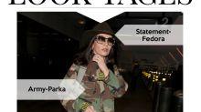 Look des Tages: Catherine Zeta-Jones in Khaki und Gold
