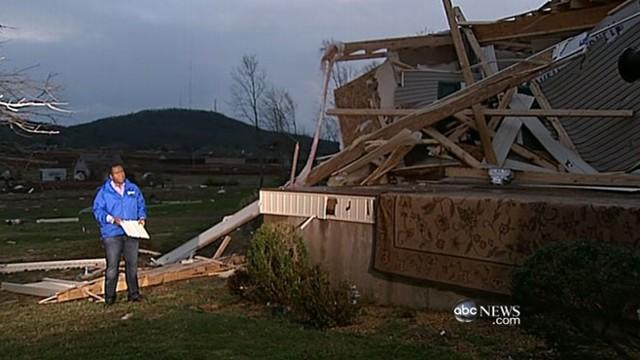 Alabama Home Hit Twice by Tornadoes