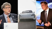 Bill Gates y Elon Musk 'chocan' por un Porsche Taycan