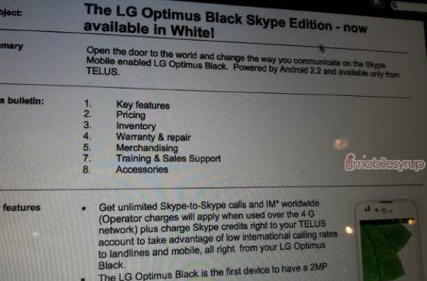 Telus launches Optimus Black in white, doesn't believe in paradoxes