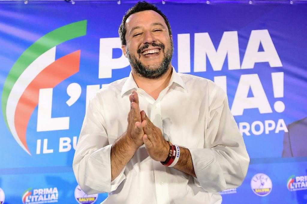 Italian far-right leader Matteo Salvini is now likely to try to force the M5S's hand on every plan it has contested since the coalition formed in June 2018 (AFP Photo/Miguel MEDINA)