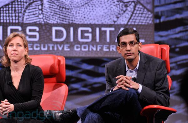Google's Sundar Pichai, SVP of Android, Chrome and Apps, live at D11