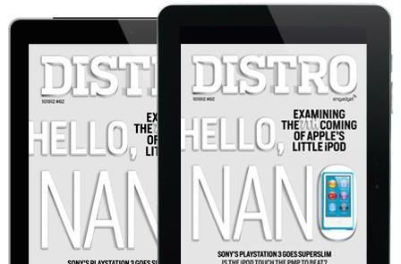 Distro Issue 62 arrives with Apple's iPod duo, a superslim PS3 and Wacom's multi-touch display