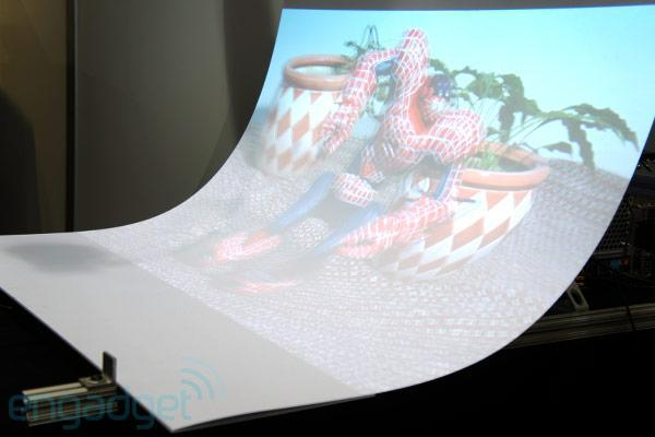 Curved panel gives more depth to 3D projections, we take a look at NAB (video)