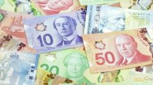 US dollar rallied significantly against the Canadian dollar into resistance