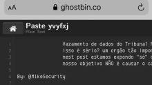 Hackers atacam TRF-1, roubam dados e comemoram com imagem de 'diabo'