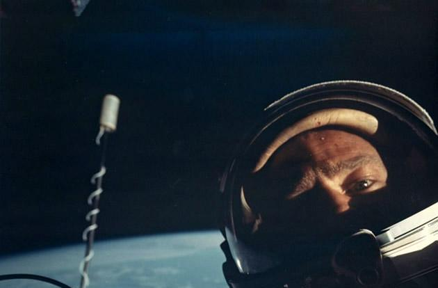 The Big Picture: Buzz Aldrin's vintage selfie from space