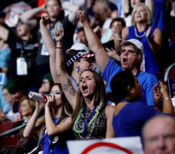 Sanders backers revolt on raucous opening day at U.S. Democratic convention