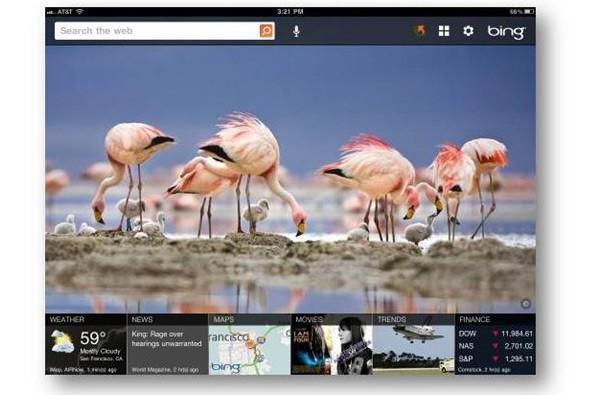 Microsoft releases Bing search app tailored specifically to the iPad
