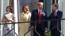Melania Trump wears $3,700 yellow Gucci coat for Helsinki visit