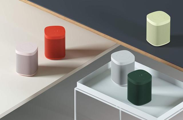 Sonos will sell red, yellow and green One speakers for a limited time