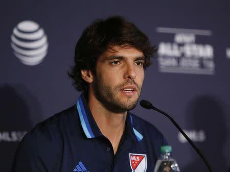 Kaká concede entrevista em San Jose