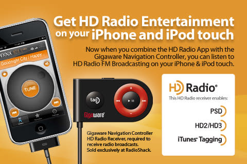 Gigaware adapter brings HD Radio to iPod touch and iPhone for $80