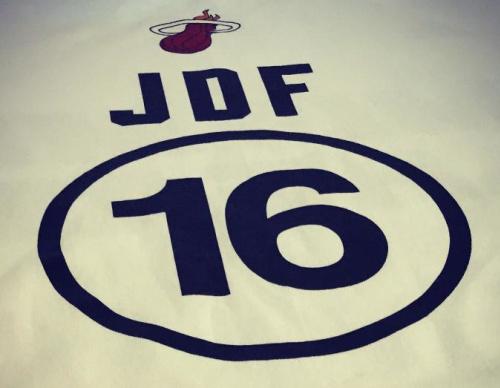 The Miami Heat will wear special warm up shirts honoring Jose Fernandez. (Miami Heat)