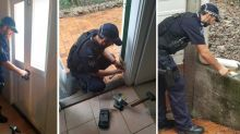 Cop puts tradie skills to good use in kind act for elderly widow