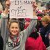 Women's March: Did Supergirl Star 'Steel' the Sign-Making Show?