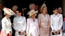 Duchess Kate joins Queen Letizia and Queen Maxima at Order of the Garter service