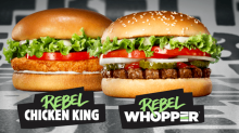 Burger King unveils veggie 'Rebel Whopper' across Europe