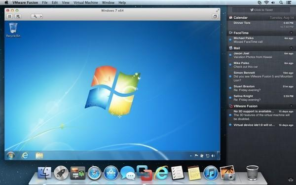 VMware intros Fusion 5 virtualization software with support for Win 8, integration with Mountain Lion