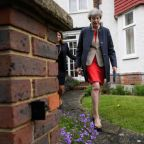No time for Brexit delays, says May as poll lead slips