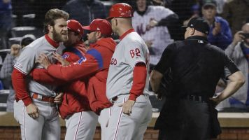 Bryce Harper fired up in first Phillies ejection