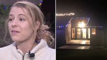 'Certainly a statement': Woman's X-rated Christmas lights display causes neighbourhood stir