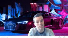 Audi has backgrounds for all those work-from-home video conferences