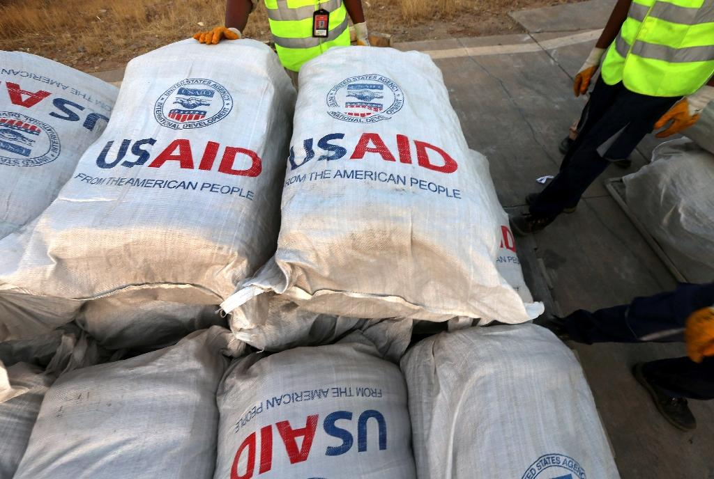 USAID sends humanitarian supplies to more than 100 countries (AFP Photo/SAFIN HAMED)