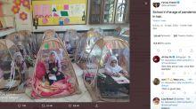 """""""Brillante"""", """"simple e innovadora"""": la solución de un colegio en Irán en pandemia"""