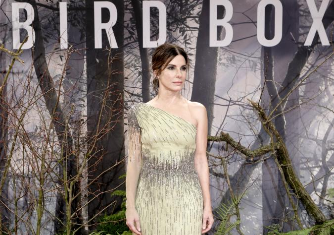 BERLIN, GERMANY - NOVEMBER 27: US actress Sandra Bullock attends the European premiere of the film 'Bird Box' at Zoo Palast on November 27, 2018 in Berlin, Germany. (Photo by Isa Foltin/WireImage)