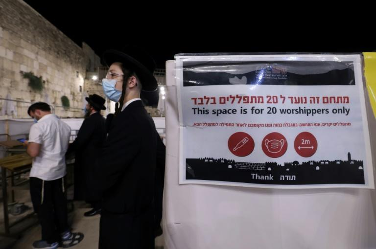 Strict controls on numbers have been in force for worshippers at the Western Wall