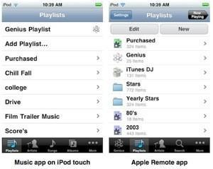 Bringing the Remote app shine back to the iPod app