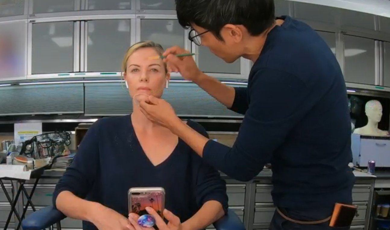 Watch never-seen-before footage of Charlize Theron's Oscar-winning 'Bombshell' makeup artist turning her into Megyn Kelly (exclusive)