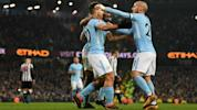 Aguero hat-trick sees pacesetters bounce back