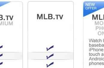 MLB introduces mobile-phone-only subscription