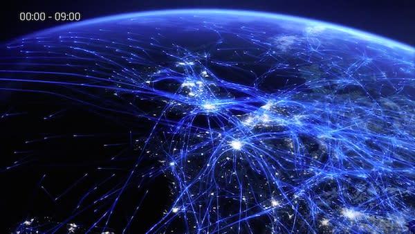 Video: Flugrouten-Visualisierung in bestechender Schönheit