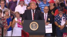Trump defends Charlottesville response, lashes out at critics at combative campaign rally