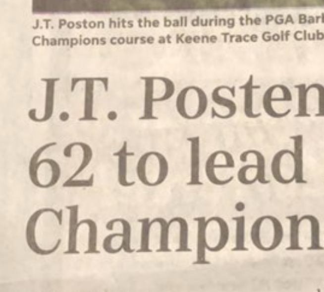 PGA Tour caddie calls out newspaper for spelling his boss' name wrong—even though he's leading the tournament