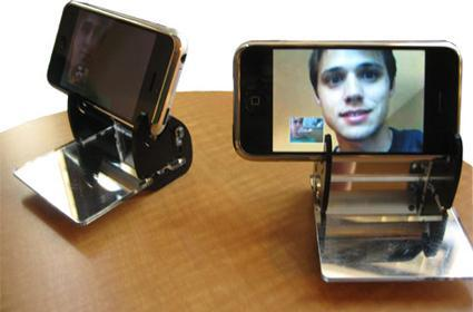 Mirror-enabled videoconferencing on the iPhone