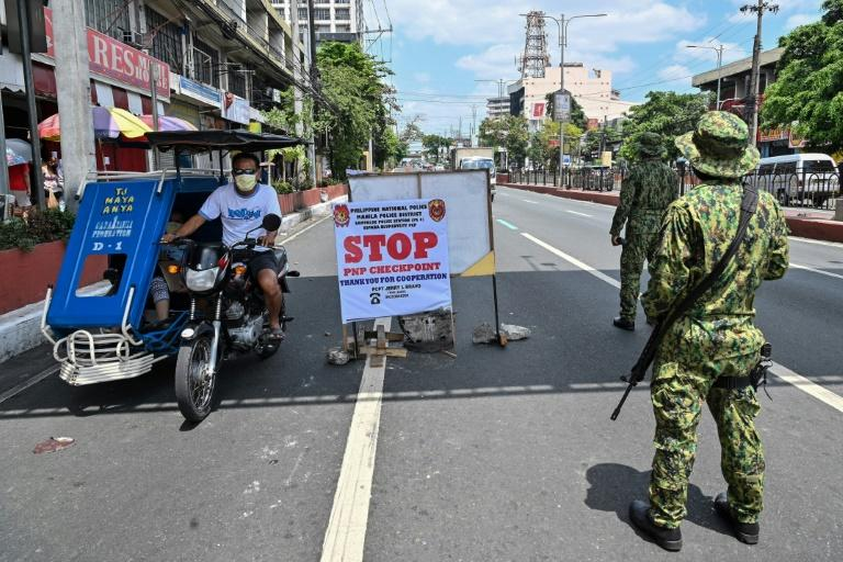 Manila's roads have been nearly deserted since a sweeping lockdown was imposed a month ago on about half the country's 110 million people