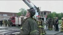 2 firefighters injured in Michigan building collapse