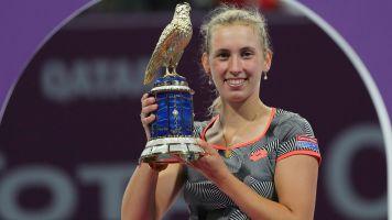 Mertens stuns Halep to win Qatar Open