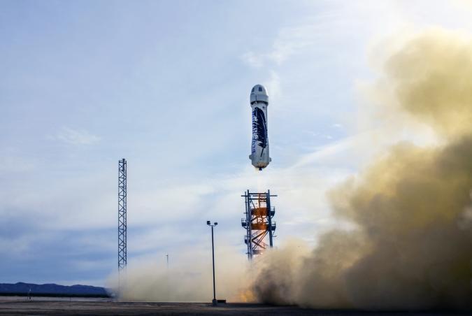 Jeff Bezos beats Elon Musk's SpaceX in the reusable rocket race