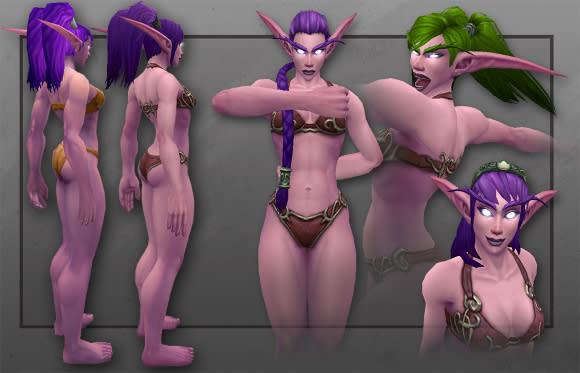 New Night Elf female model revealed