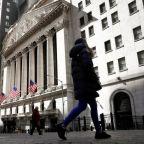 U.S. stocks retreat from record high, dollar near 10-week low